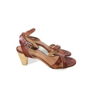 EUC Lucky Brand Parcia Leather Ankle Strap Sandals